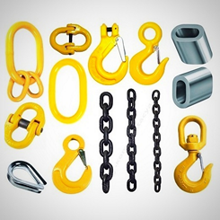 Продажа звеньев, крюков, цепи для цепных строп