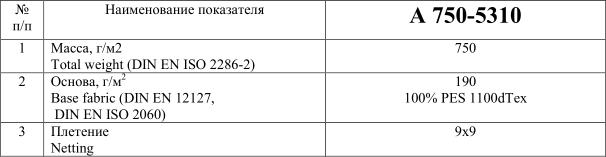 Материал с ПВХ покрытием А 750-5310 купить