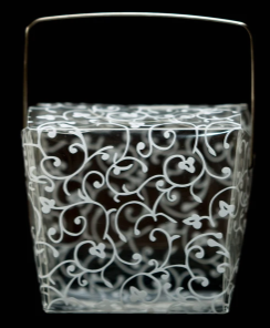 Clear Plastic Lace Design Small Take Out Container.PNG