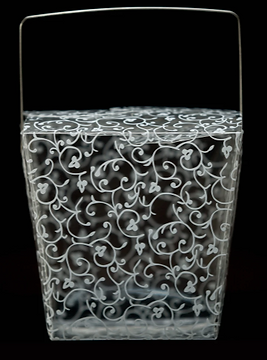 Clear Plastic Lace Design Large Take Out Container.PNG