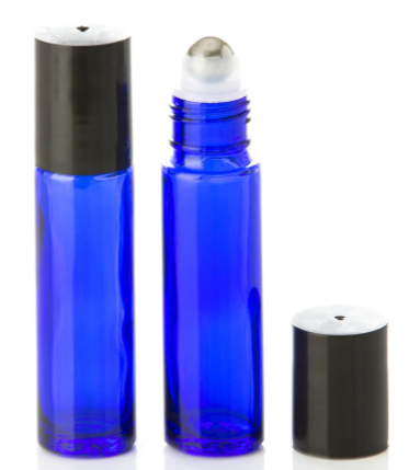10 mL Blue Glass Rollerball Bottle with