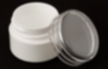 Lip Balm Jar White Base Clear Cap 7.5 mL