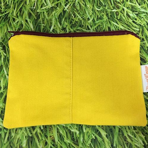 Denim Zip Pouch (Yellow)