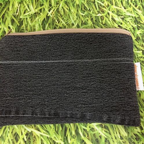 Denim Zip Pouch (Black)