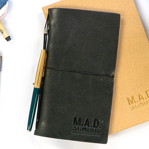 M.A.D. School Leather Cover Journal Notebook