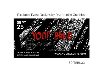 edgy black and white custom event design for bands organzations and event planners to promote their event