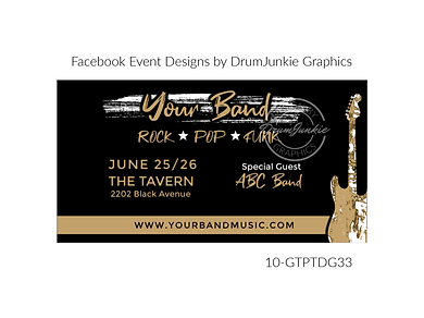 distressed guitar on custom event design for bands organzations and event planners to promote their event