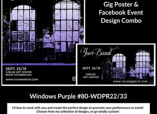 GIG POSTER Designs by DrumJunkie