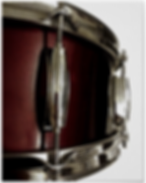 drummer poster with dark red snare drum