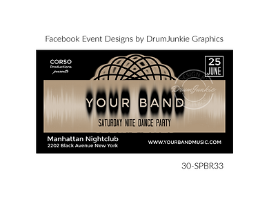 dance party custom event design for bands organzations and event planners to promote their event