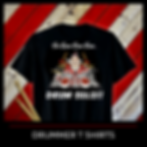 Christmas T Shirts for Musicians featuring Drummer Santa on a drum kit with drumsticks