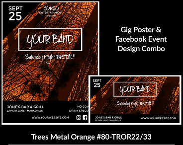 cool and edgy custom gig poster design and matching facebook event design for bands organzations and event planners to promote their event
