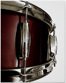 Drummer Poster with Red Snare Drum - only from DrumJunkie Graphics