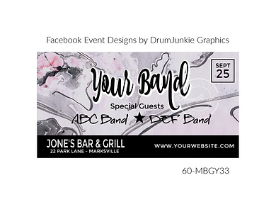 pretty gray marble custom event design for bands organzations and event planners to promote their event