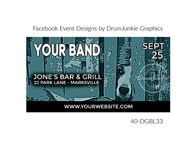 edgy blue dog on custom event design for bands organzations and event planners to promote their event