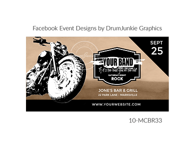 cool motorcycle on rock and roll custom event design for bands organzations and event planners to promote their event