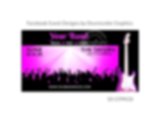 funky pink guitar on custom event design for bands organzations and event planners to promote their event