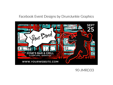 cool punk style custom event design for bands organzations and event planners to promote their event