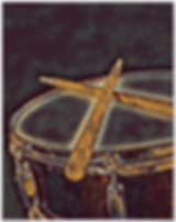 blue and gold drummer poster with snare drum and crossed drumsticks