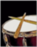 red snare drum poster with crossed drum sticks
