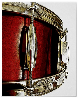 drummer poster with red snare drum