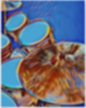 cool blue drummer poster with snare drum bass drum toms and cymbals