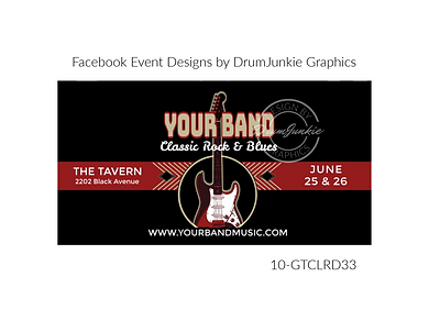 cool guitar on custom event design for bands organzations and event planners to promote their event