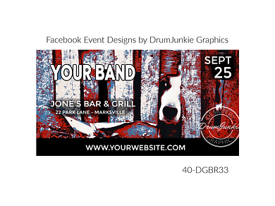 cool dog on custom event design for bands organzations and event planners to promote their event