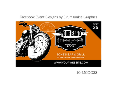 cool motorcycle on custom event design for bands organzations and event planners to promote their event