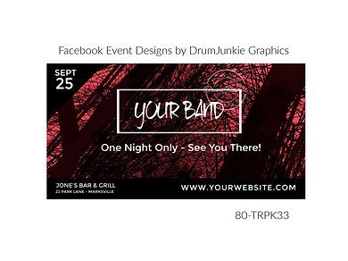 edgy pink and black custom event design for bands organzations and event planners to promote their event