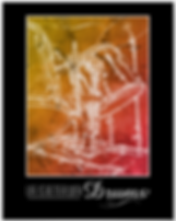 Cool and colorful drummer poster with front of drum kit including bass drum toms and cymbal with caption life is better with drums