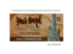 distressed guitar on woodgrain custom event design for bands organzations and event planners to promote their event