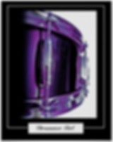 drummer poster with purple snare drum and caption drummer girl for female drummers and drummer chicks