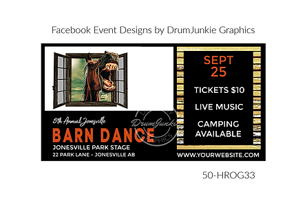awesome horse on custom event design for bands organzations and event planners to promote their event