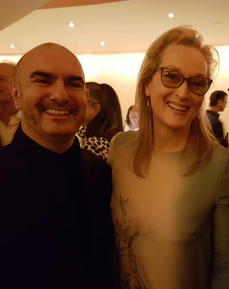 Max Midroit with Meryl Streep