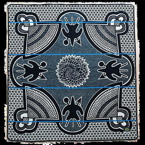 Basotho Blanket - Kharetsa Aloe Black & White