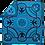 Thumbnail: Basotho Blanket - Kharetsa Aloe Turquoise & Black
