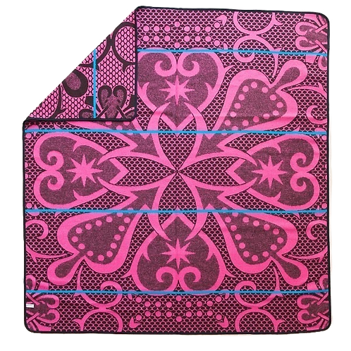 Basotho Blanket - Seanamarena Fuscia & Chocolate