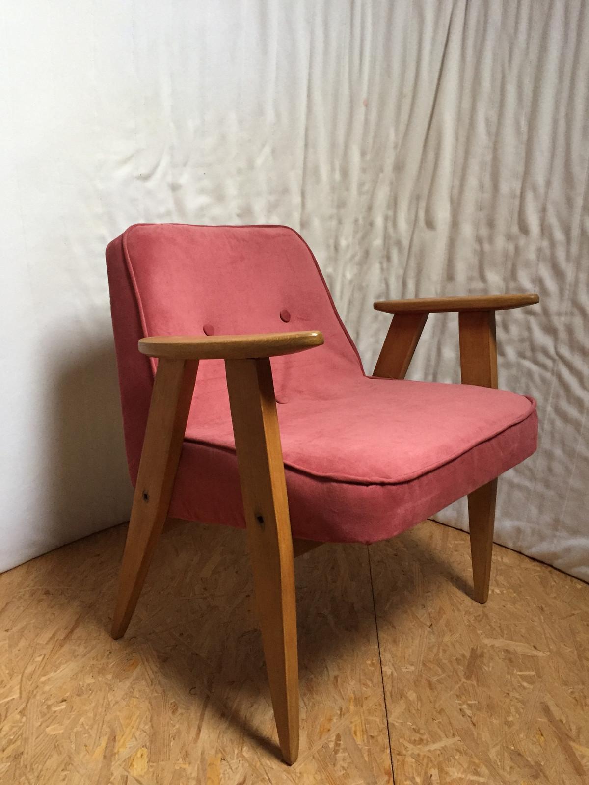 2 Szt Foteli 366 Proj Jchierowskiego Lata 60