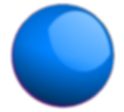Blue coloured ball pond ball
