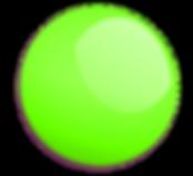 Green ball pond ball