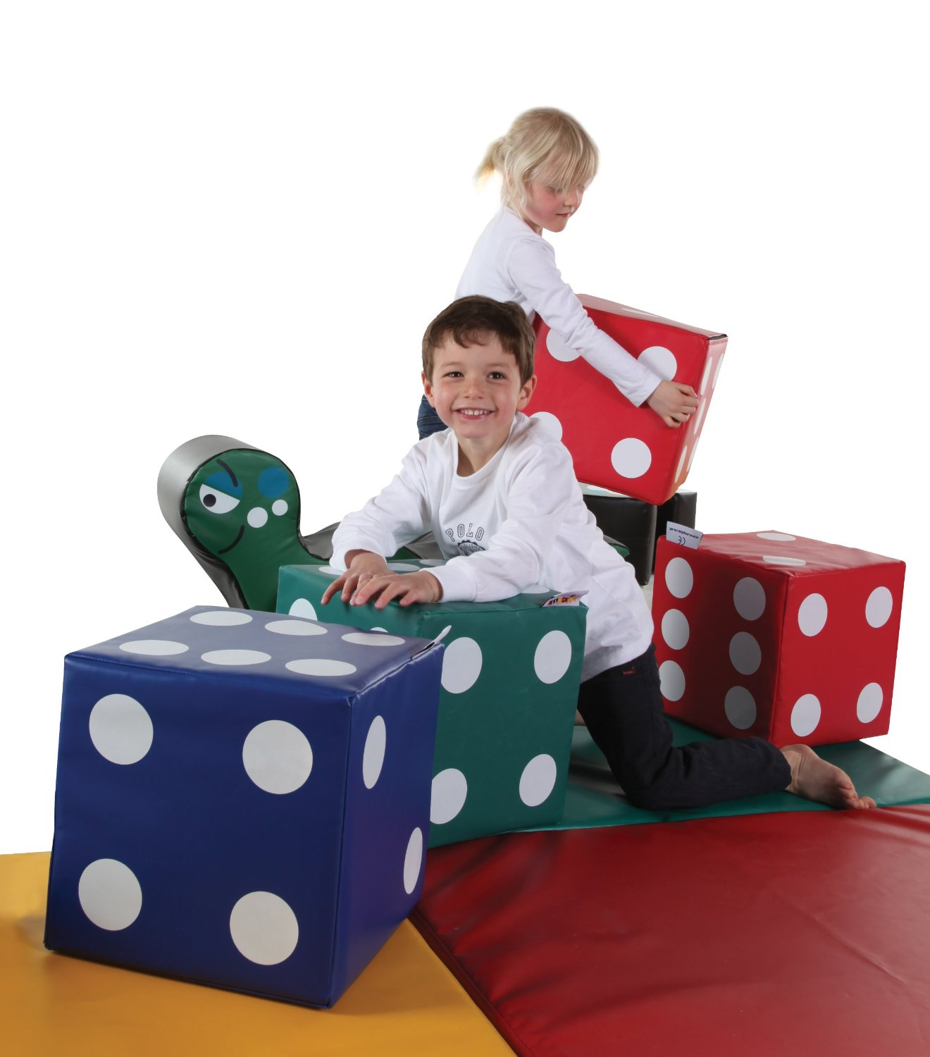2 Large Soft Play Dice