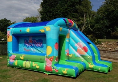 A bounce and slide combo inflatable to hire from BJ's Bouncy Castles Hire Bexley - Sutton