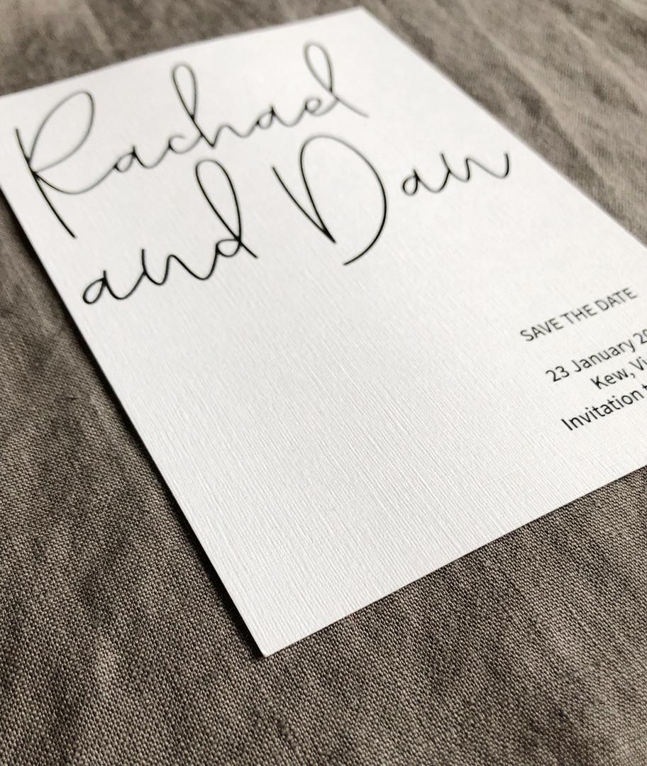Private client - invitation design