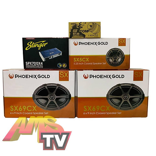 AMS Bagger Phoenix Gold Sound System Package #8