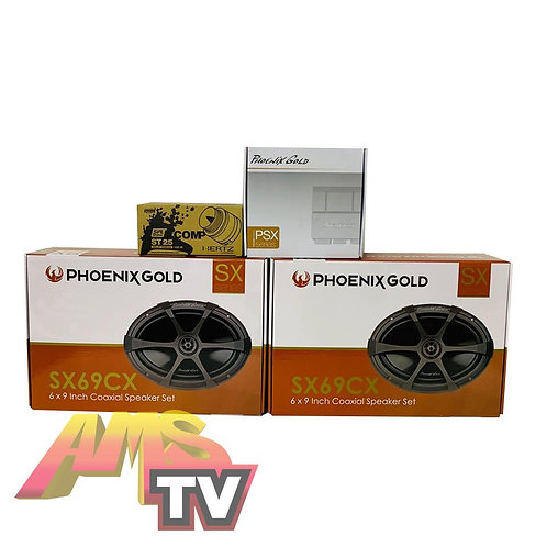 AMS Bagger Phoenix Gold Sound System Package #11