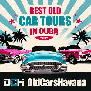 banner old cars havana