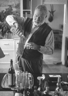 Ernest Hemingway and a good drink.