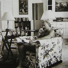Ernest Hemingway dresses easily.