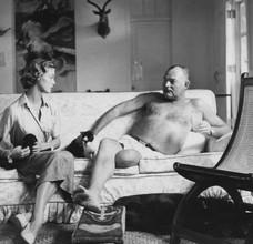 Jean Patchett and Ernest Hemingway